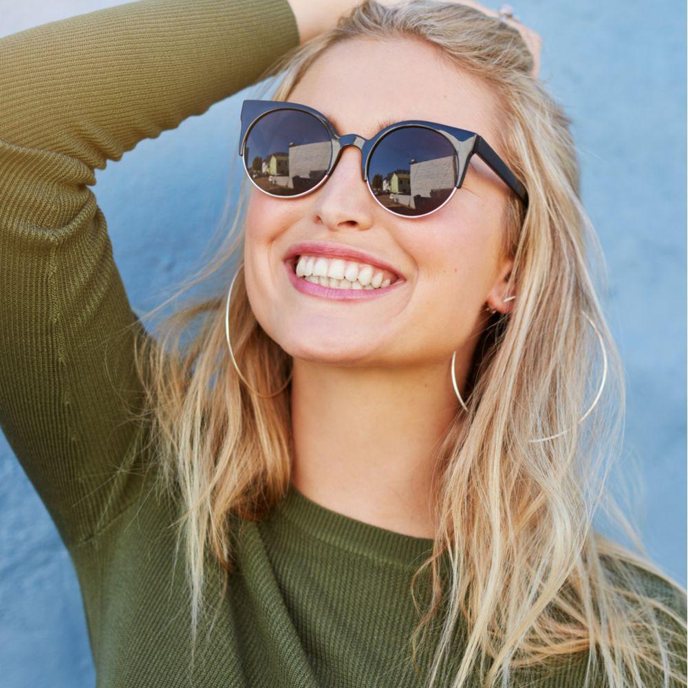 Beautiful girl smiling